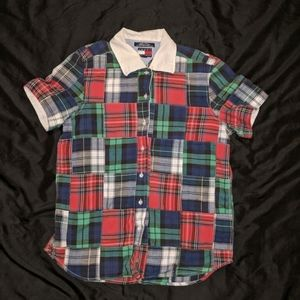 Vintage Tommy Hilfiger Quilted Plaid Button Down